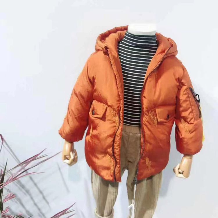 新冬中长款儿童装羽绒服 加厚白鸭绒外套羽绒服批发