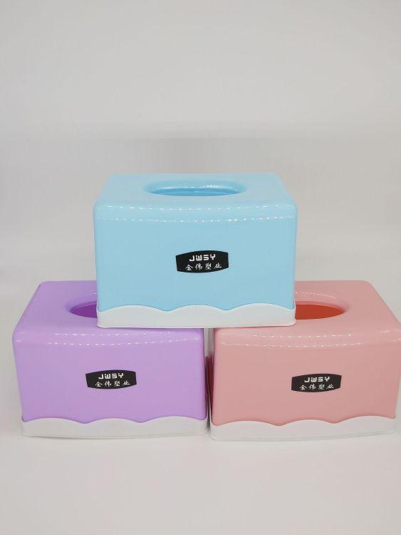 家用纸巾盒 客厅桌面抽纸盒餐巾纸收纳盒 车用纸抽盒 两元店货源