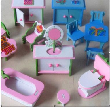 迷你仿真小家具新款木制儿童过家家玩具 亚马逊热卖厨房 木质