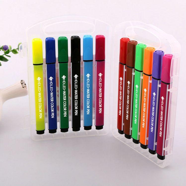 现货批发水彩笔学生绘画美术用品涂色绘图彩笔 儿童用品绘画笔