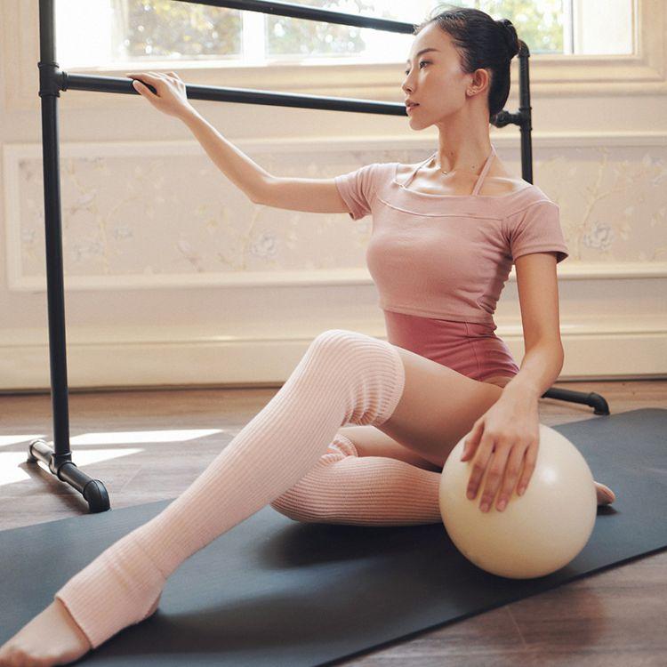 一件代发芭蕾舞蹈毛护腿袜套舞蹈练功护膝长短款瑜伽保暖袜套