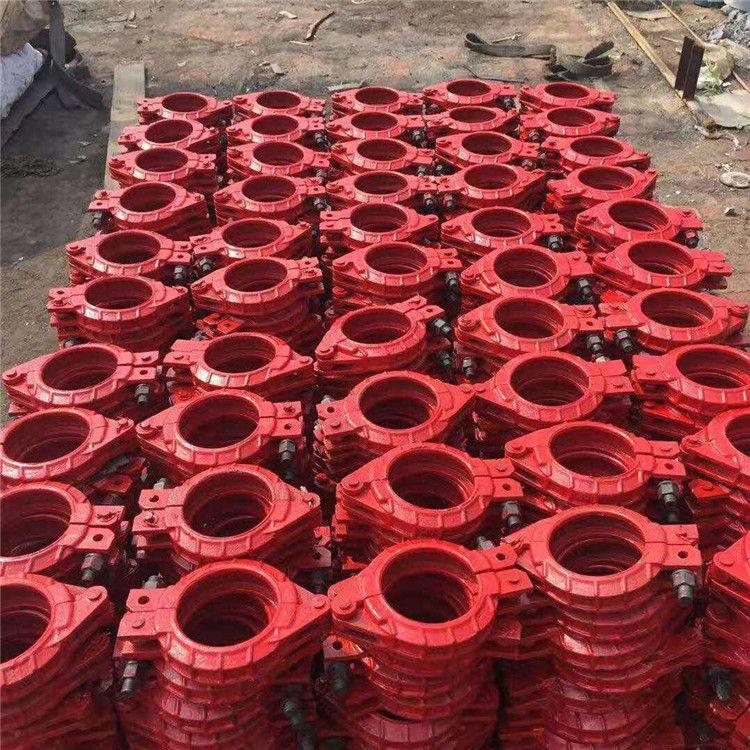 泵管管卡 125高压大螺母低压混凝土砂浆泵管  泵车管卡厂