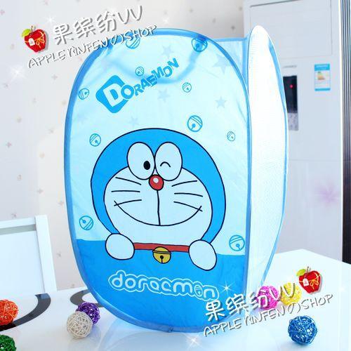 哆啦A梦脏衣篮叮当猫折叠收纳篮蓝胖子网布洗衣篮网袋收纳框