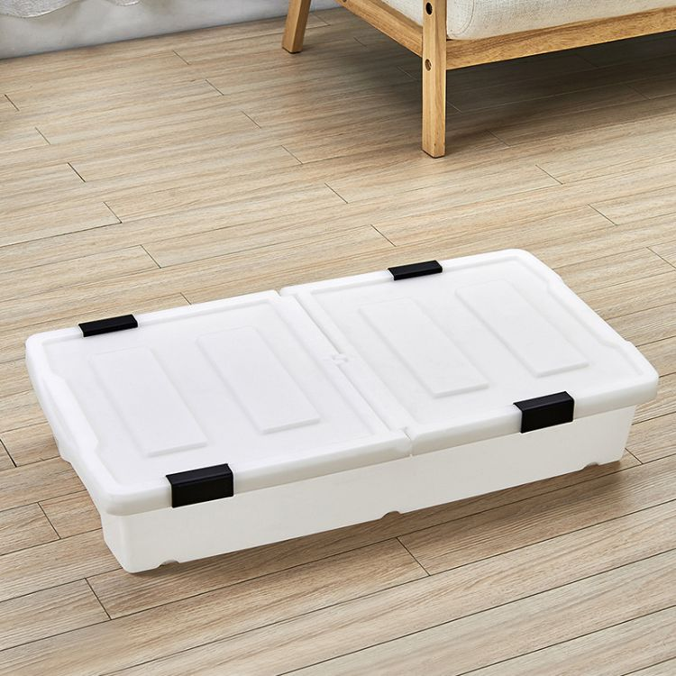 造极百货-床底收纳箱扁平塑料特大号储物箱衣服被子整理箱床下收纳箱带滑轮