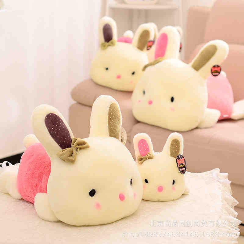 厂家批发可爱趴趴兔公仔咪咪兔毛绒玩具兔新款趴姿小兔子玩具批发