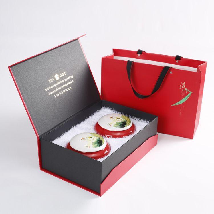 忠艺信 产地货源 定制款 陶瓷茶叶罐半斤装 通用礼盒套装批发