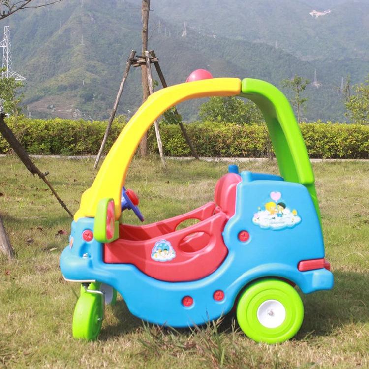 厂家定做幼儿园金龟车助力训练滑行学步车淘气堡儿童塑料玩具批发