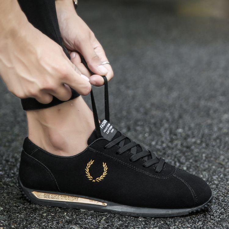 2017新款秋季韩版运动男士个性潮鞋低帮休闲男鞋子阿甘学生布鞋