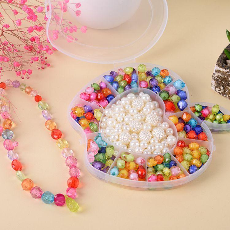 儿童串珠套盒儿童串珠玩具diy手工制作女孩穿项链手链珠子