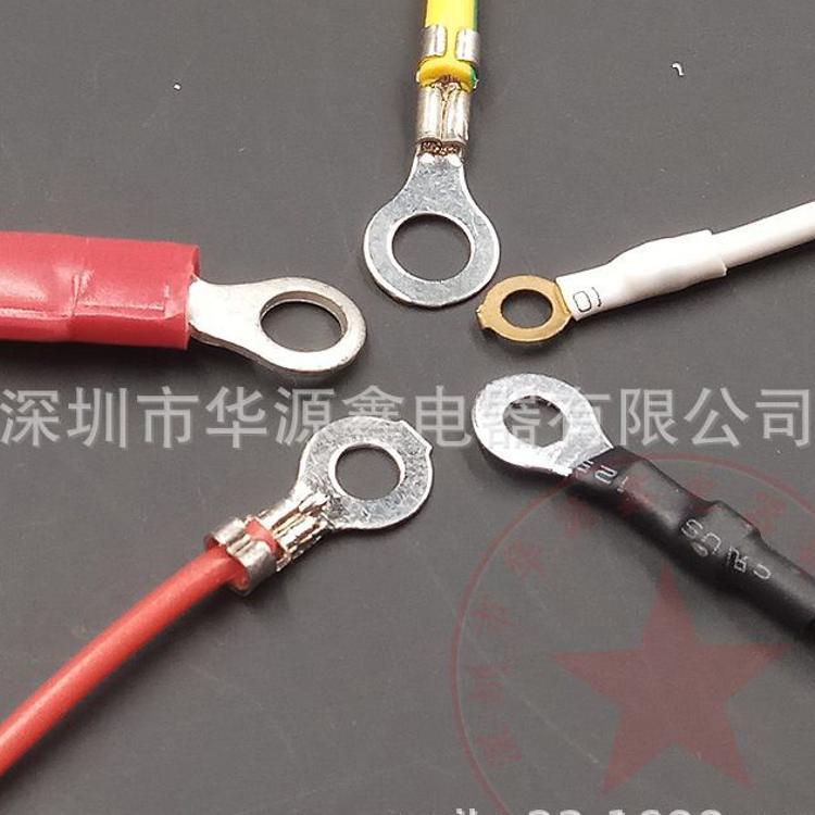 圆环端子线束加工厂家 2.0/2.2/2.5/2.6/3.0/3.2*4.2/5.2/6.2线束