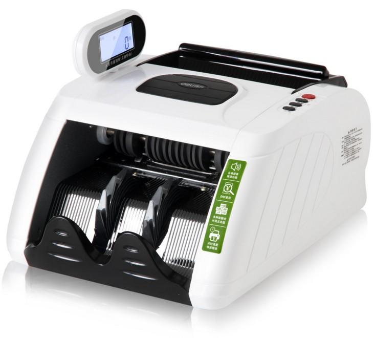 得力3915点钞机 银行专用便携 高灵敏度智能语音验钞机