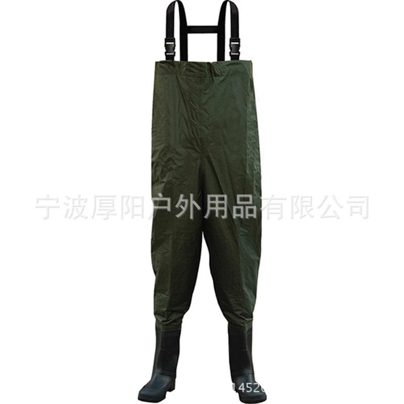 尼龙胸裤70D*190T尼龙复合PVC下水裤连体钓鱼裤防水连体服钓鱼服