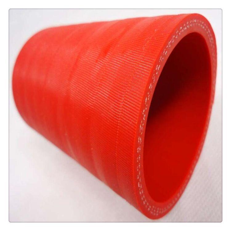 夹布夹线硅胶管 夹耐温线层硅橡胶胶管DN20规格订制 红色橡胶管耐温