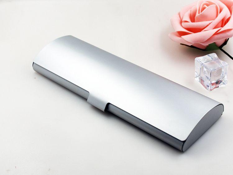 定制铝合金金属文具盒 方便携带学生折叠笔盒 笔类礼品包装盒批发