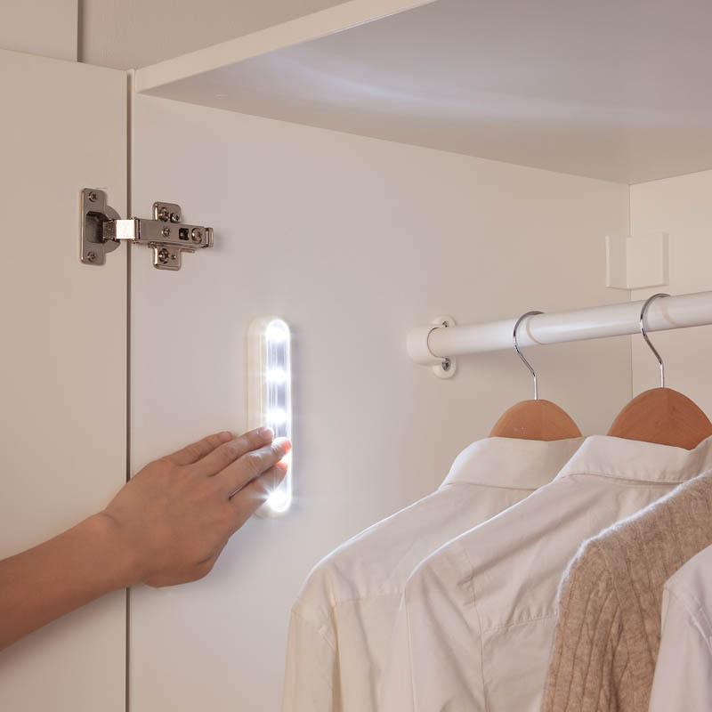 日式随心家居LED随心粘橱柜灯衣柜灯超薄底板灯粘贴式鞋柜灯