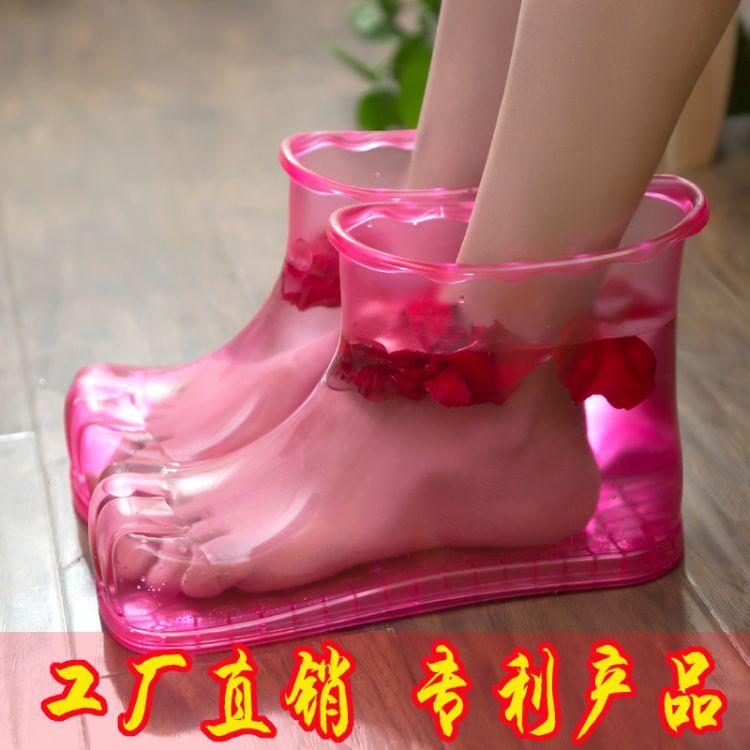 泡脚鞋出口日韩家居家男女情侣足浴按摩塑料足浴鞋美容养生鞋批发