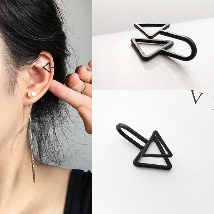 韩版新款无耳洞耳夹 男女GD明星同款三角U形耳夹 个性假耳钉耳环