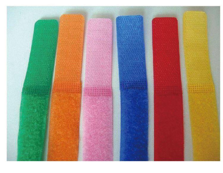专业生产魔术贴服装粘扣粘带绑带扎带专业定制 背对背T型扎带