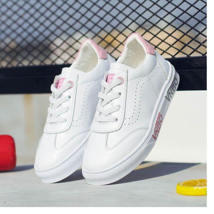 2018秋季新款儿童真皮小白鞋女童休闲板鞋男童学生跑步鞋一件代发