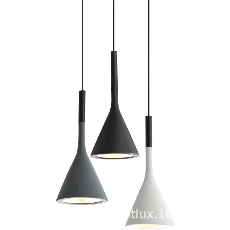 北欧创意单头小吊灯餐厅吧台灯 简约现代卧室设计师的灯树脂小灯具