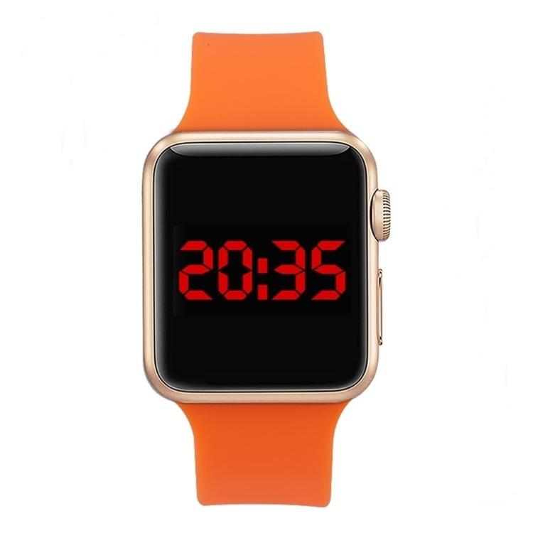 厂家批发新款防水电子手表防苹果款LED学生表精美礼品表批发代发