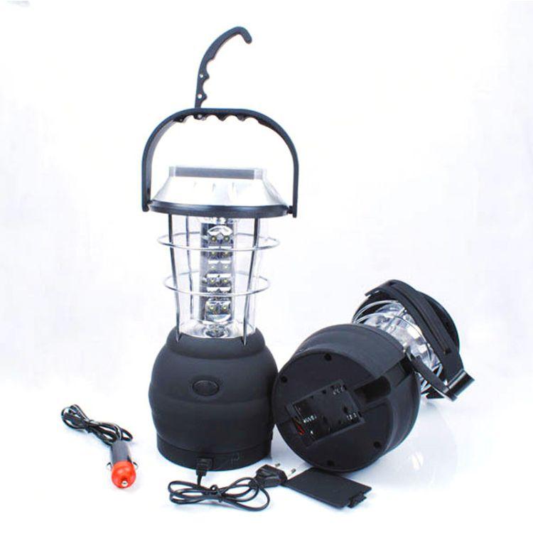 厂家直销手摇发电太阳能马灯户外露营应急灯夜间野营灯36LED马灯