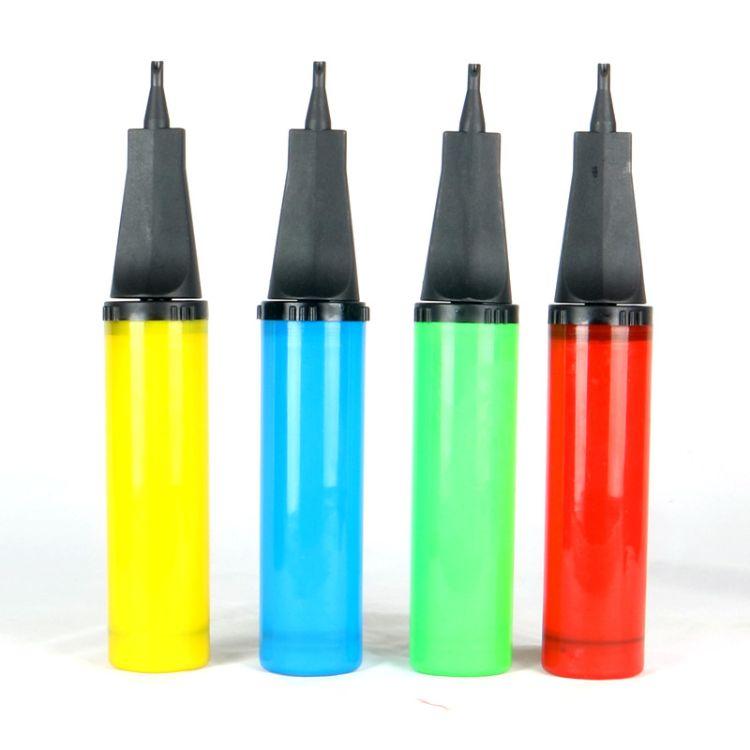 气球手打气筒瑜伽充气斜口便携塑料气筒手动中号手打气筒婚庆气筒