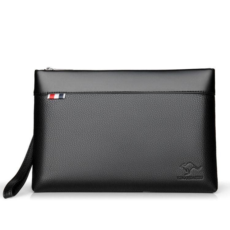 新款男士单拉横款信封包休闲手机软包跨境货源支持定制百搭手包