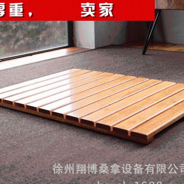 定制淋浴地垫卫生间实木防滑垫浴室防腐木隔水垫防水拼接垫木踏板
