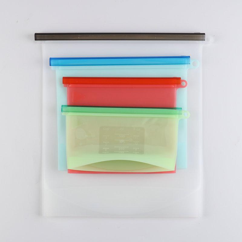 500/1000/1500/4000ML硅胶保鲜袋 食品分装冷冻收纳袋 水果袋