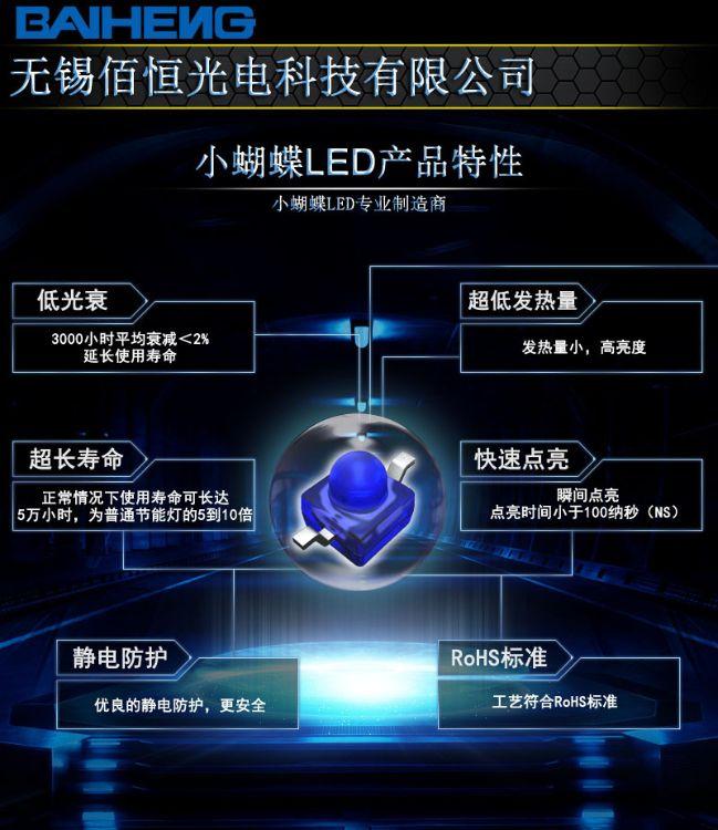 91-21UBC/C430/TR10 台湾亿光贴片灯 小蝴蝶led灯蓝色 everlight