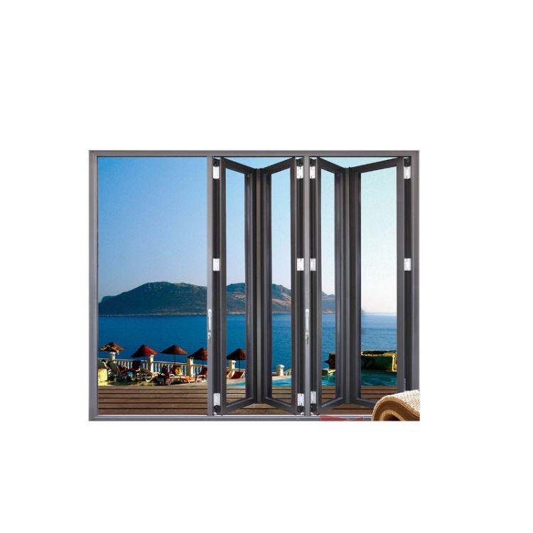 海口市厂家直销防盗铝合金门窗 高端定制别墅重型折叠门别墅门窗