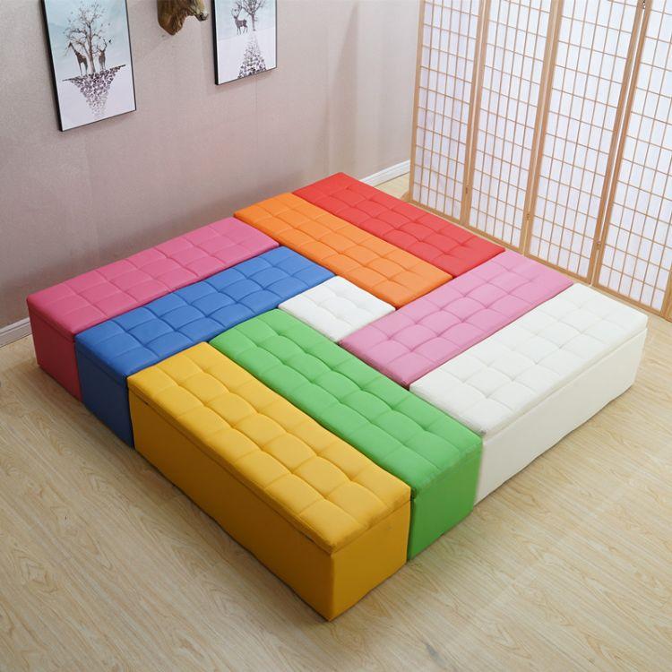 实木服装店长方形沙发储物凳收纳更衣室试衣间凳子换鞋凳鞋柜床尾