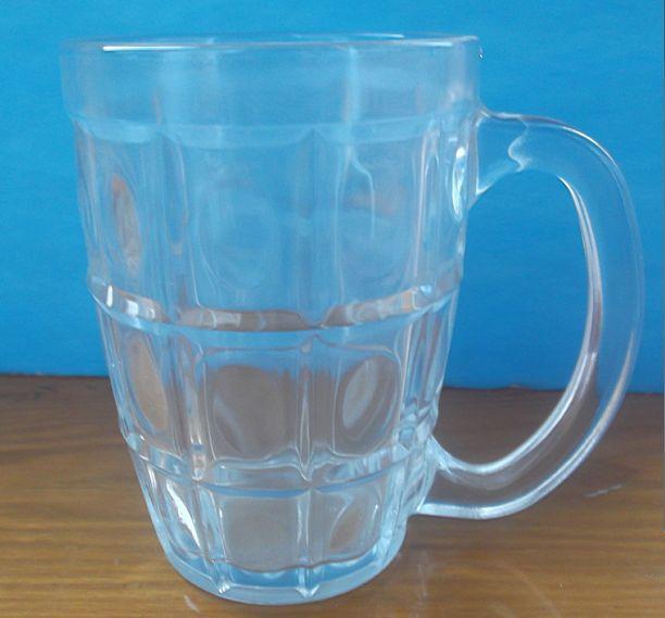 大华 专业生产带柄高白料透明玻璃杯水杯
