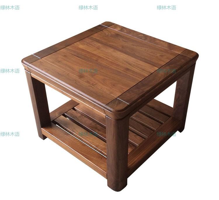 上海实木家具定制北美黑胡桃木角几全实木休闲桌小边几现代简约