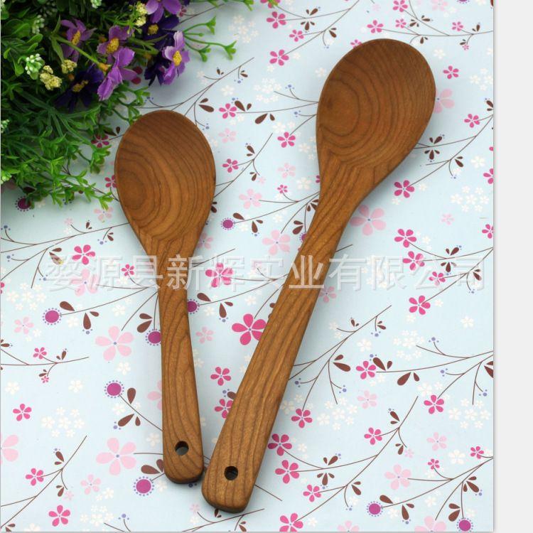 精美儿童餐具 木勺2件套 樱桃木餐具套装