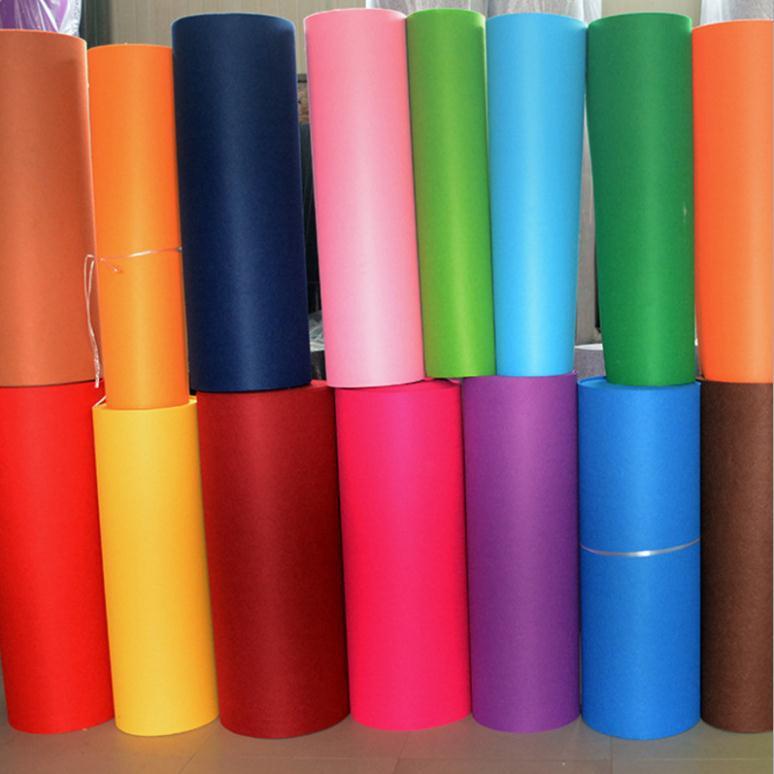 厂家定做批发加厚彩色化纤 毛毡块 毡条 装饰针刺无纺布 不织布