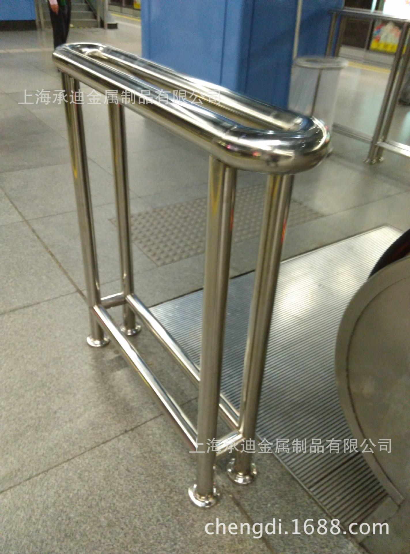 上海不锈钢扶手加工中心 承接车站  地铁站行人安全扶手定制
