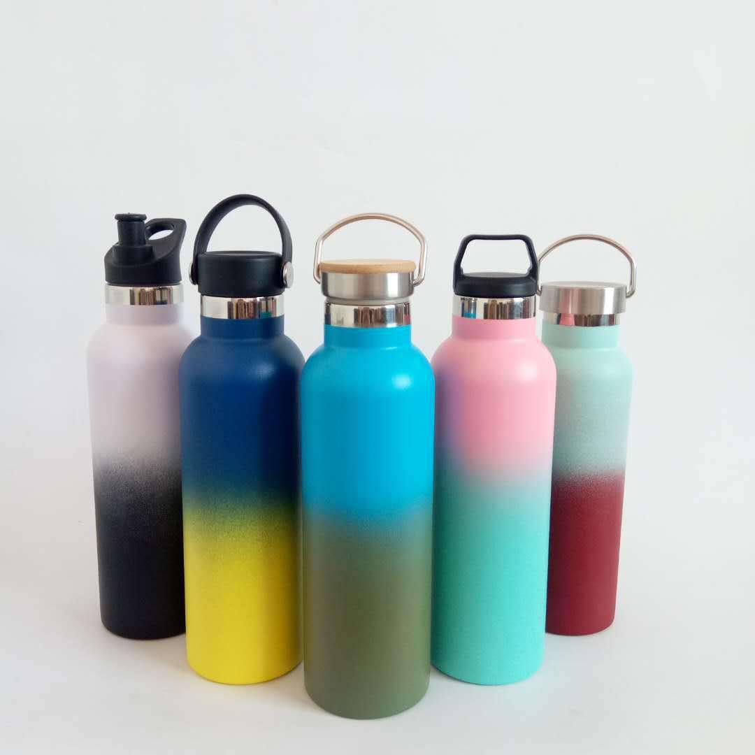 高端定制渐变保温瓶广口瓶登山瓶双层内外304 5个容量可定LOGO
