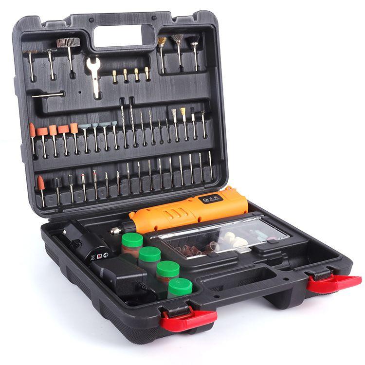 调速电磨套装雕刻机工具抛光机打磨机套装12V充电电磨小电磨