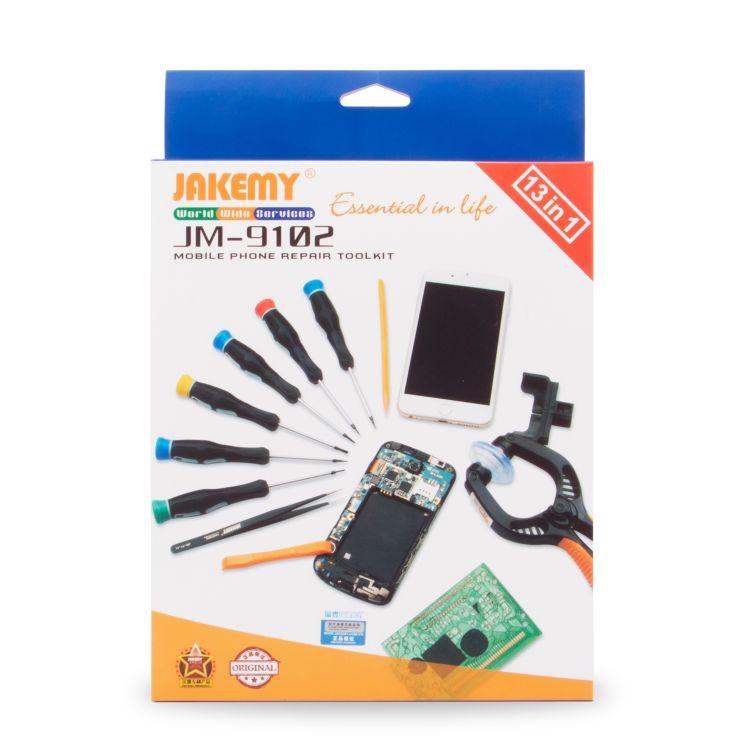 JM-9102 手机维修螺丝刀五金工具组合套装 13合1电讯工具