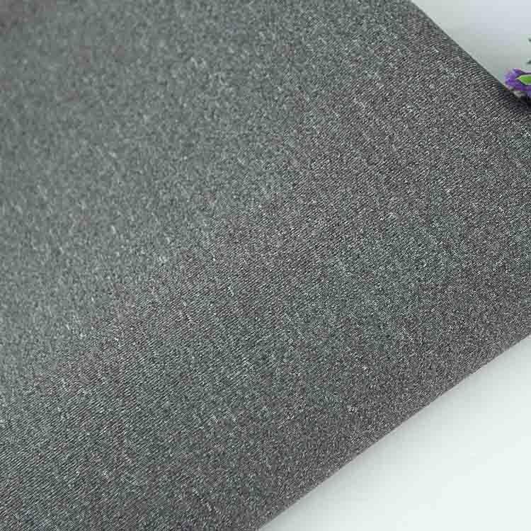 针织厂家现货空气层夹丝 涤氨纶麻灰夹层太空层双面 双色针织弹力
