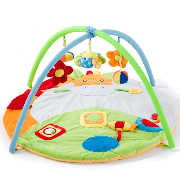 游戏毯长颈鹿婴儿游戏垫爬行毯健身架爬行垫子爬爬垫宝宝音乐玩具