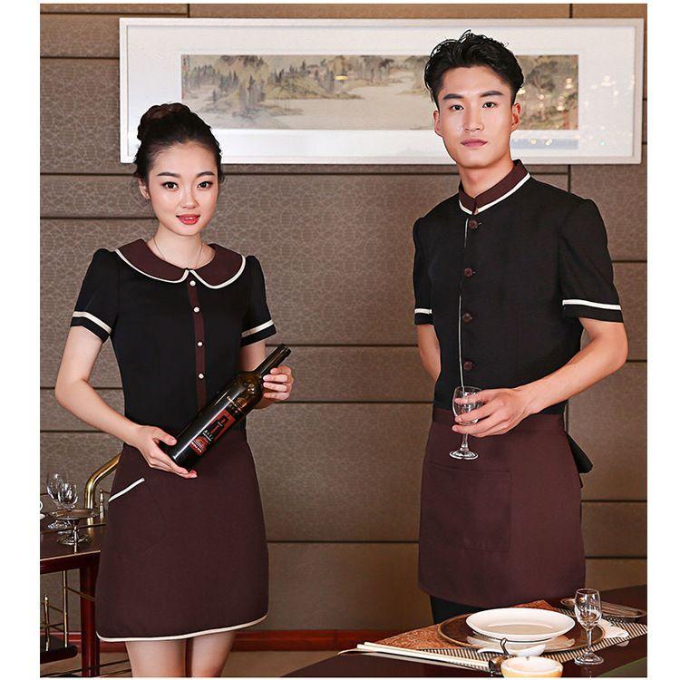 服务员工作服夏装女短袖餐饮酒店咖啡馆西餐厅火锅饭店蛋糕店服装