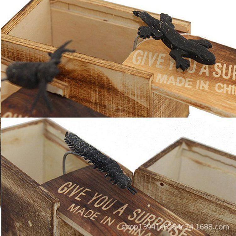 吓一跳木盒 愚人节 整蛊玩具 整人送男友恶搞 吓人恐怖小木盒玩具