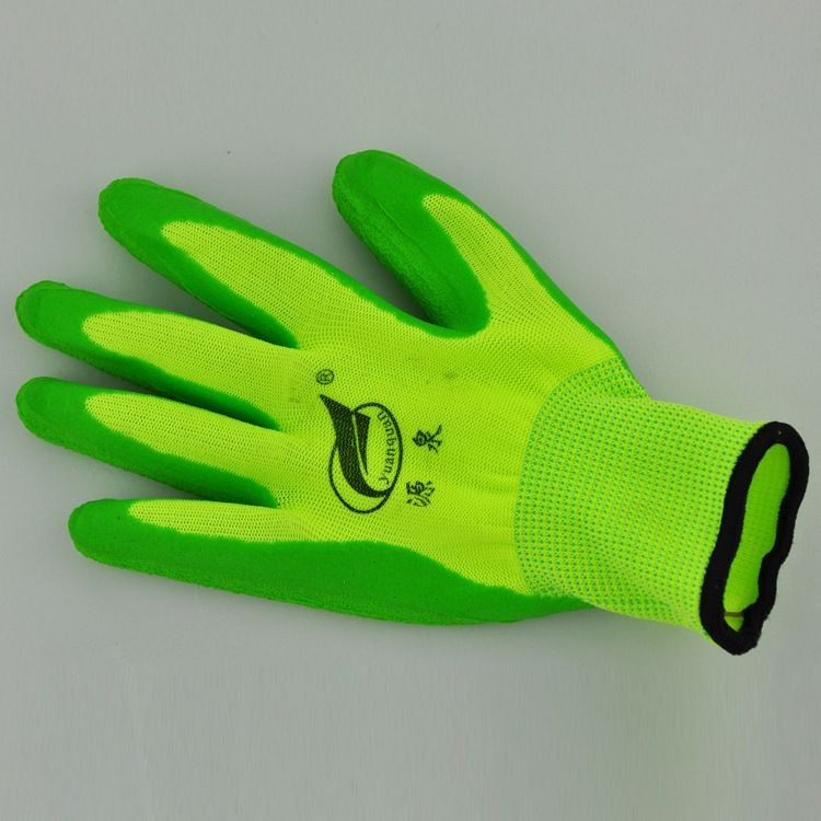厂家直销环保劳保手套 乳胶发泡手套 防滑耐磨超耐寒护手手套批发