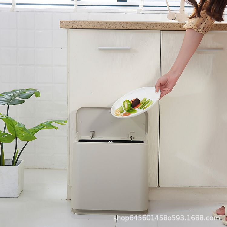 北欧垃圾桶家用客厅卧室按压式厨房卫生间创意垃圾桶大号有盖纸篓
