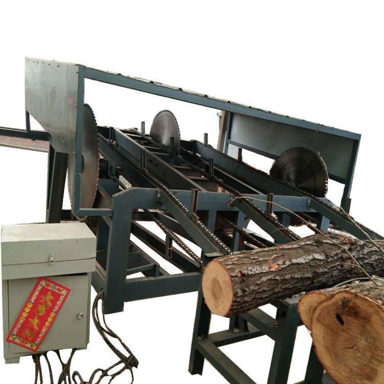 自动圆木截断锯圆木方木断料切割下料一次多段断木机