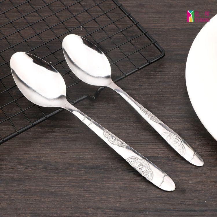 蝴蝶花系列汤勺不锈钢叉勺西餐酒店用品不锈钢餐具促销厂家直销