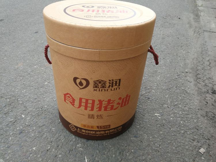 厂家直销 15KG 15L 食用猪油 精炼猪油 包装纸桶 可定制